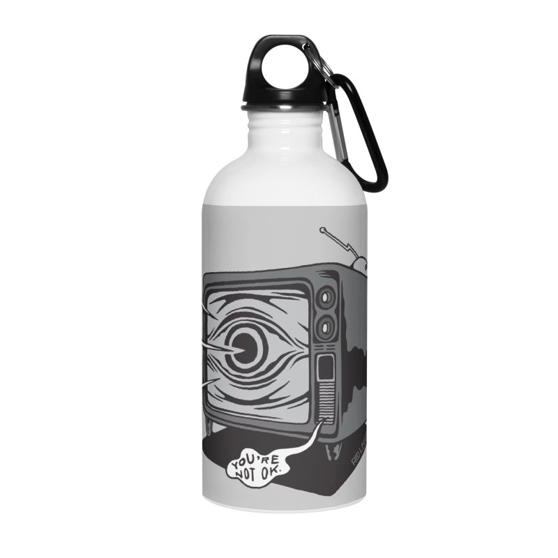 TV Time Accessories Water Bottle by redleggerstudio's Shop