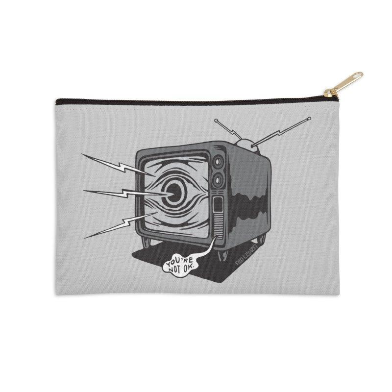 TV Time Accessories Zip Pouch by redleggerstudio's Shop