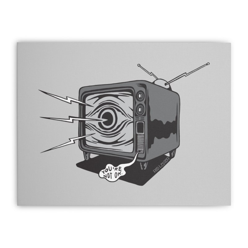 TV Time Home Stretched Canvas by redleggerstudio's Shop