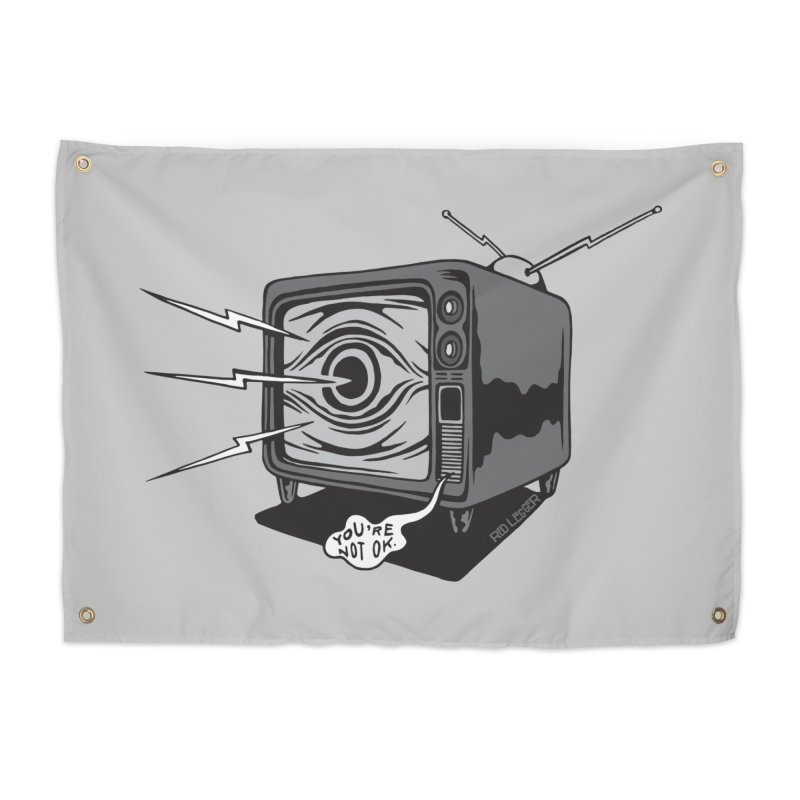 TV Time Home Tapestry by redleggerstudio's Shop