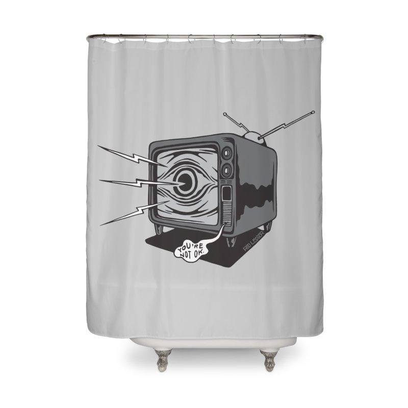 TV Time Home Shower Curtain by redleggerstudio's Shop