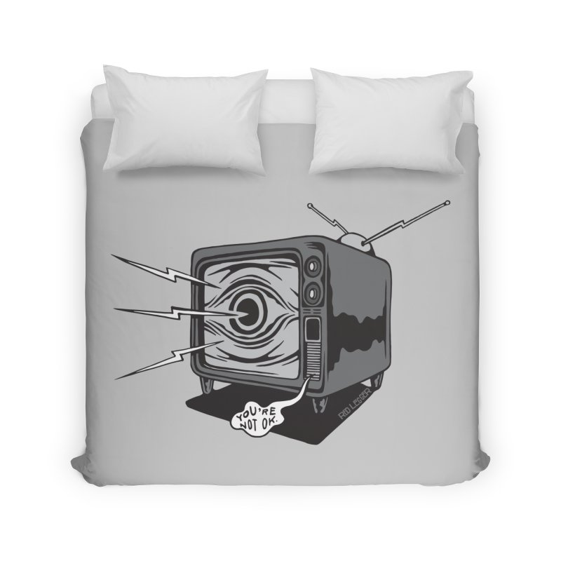TV Time Home Duvet by redleggerstudio's Shop