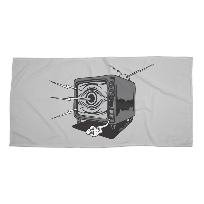 TV Time Accessories Beach Towel by redleggerstudio's Shop