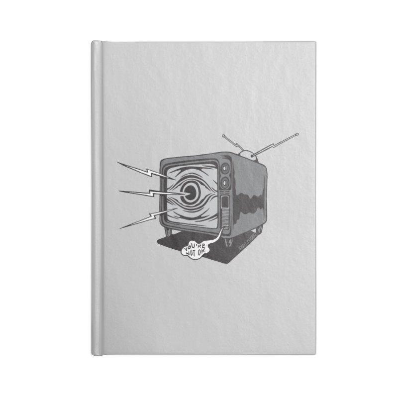 TV Time Accessories Notebook by redleggerstudio's Shop