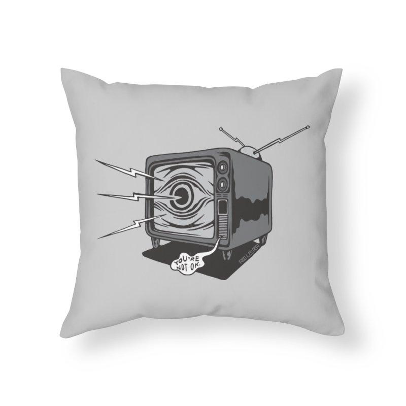 TV Time Home Throw Pillow by redleggerstudio's Shop