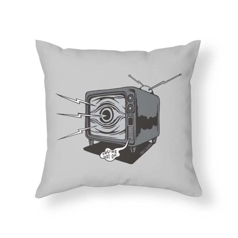 TV Time in Throw Pillow by redleggerstudio's Shop