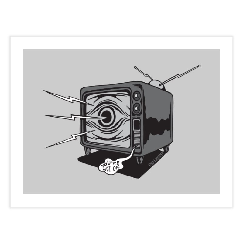 TV Time Home Fine Art Print by redleggerstudio's Shop