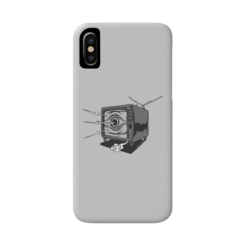 TV Time Accessories Phone Case by redleggerstudio's Shop