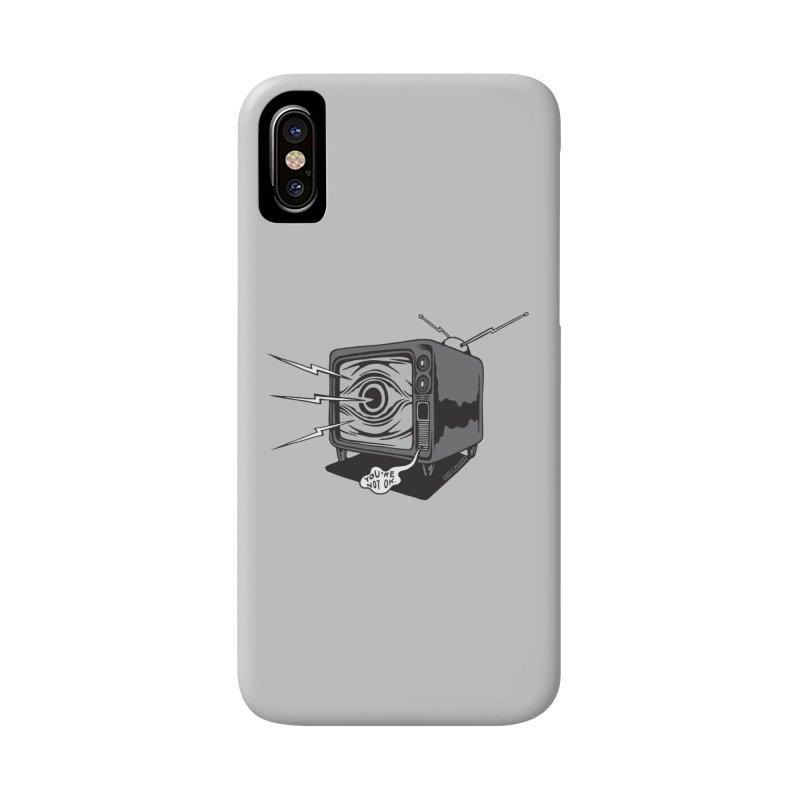 TV Time Accessories Phone Case by redleggerstudio's Shop