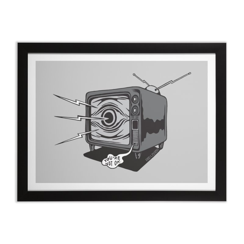 TV Time Home Framed Fine Art Print by redleggerstudio's Shop