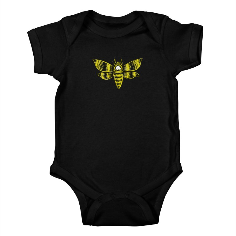 Death's Head Kids Baby Bodysuit by redleggerstudio's Shop