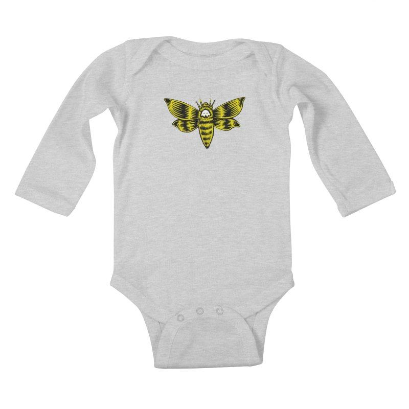 Death's Head Kids Baby Longsleeve Bodysuit by redleggerstudio's Shop