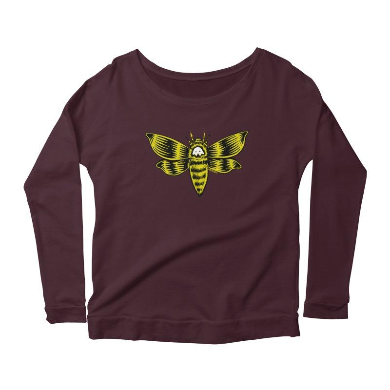 Death's Head Women's Scoop Neck Longsleeve T-Shirt by redleggerstudio's Shop