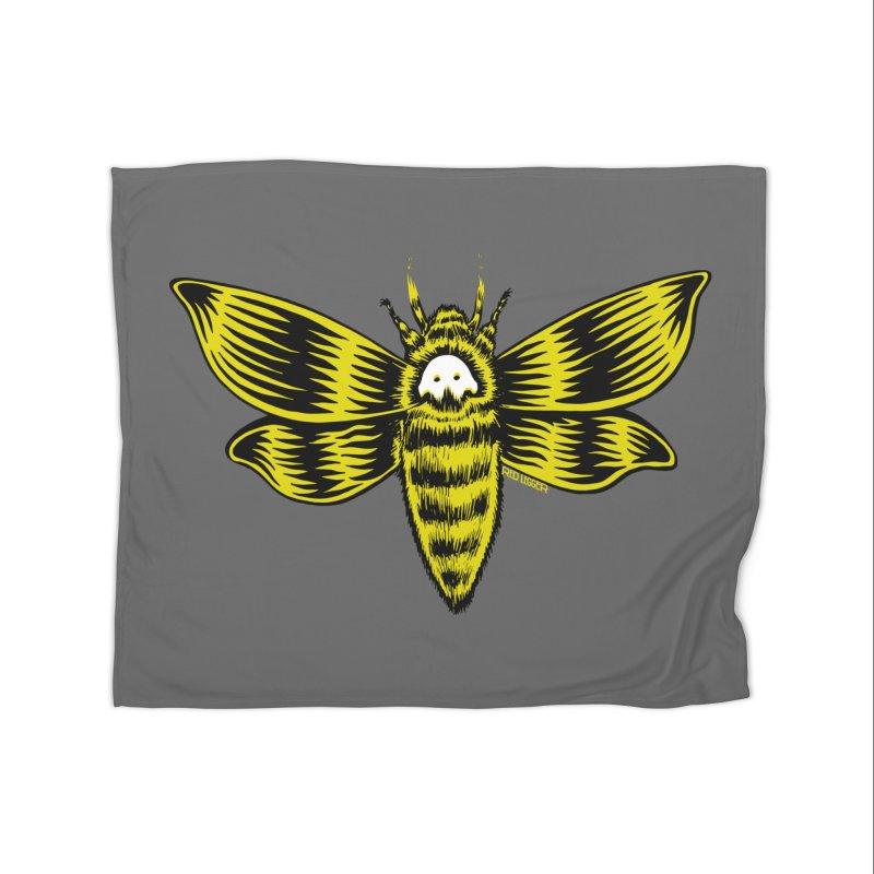 Death's Head Home Blanket by redleggerstudio's Shop