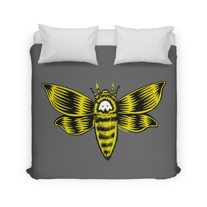 Death's Head Home Duvet by redleggerstudio's Shop