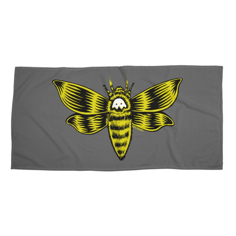Death's Head Accessories Beach Towel by redleggerstudio's Shop