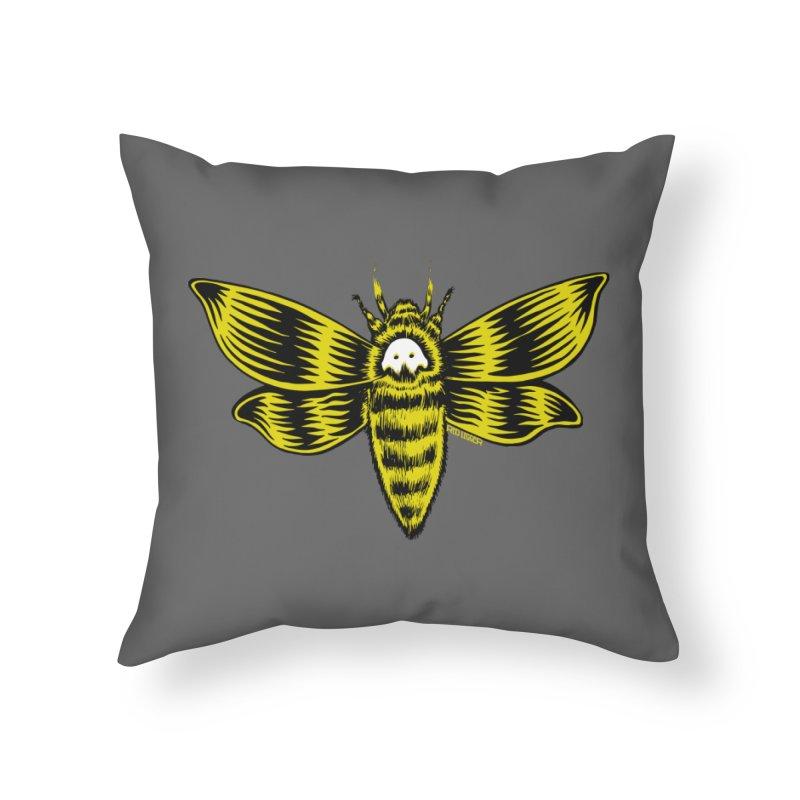 Death's Head Home Throw Pillow by redleggerstudio's Shop