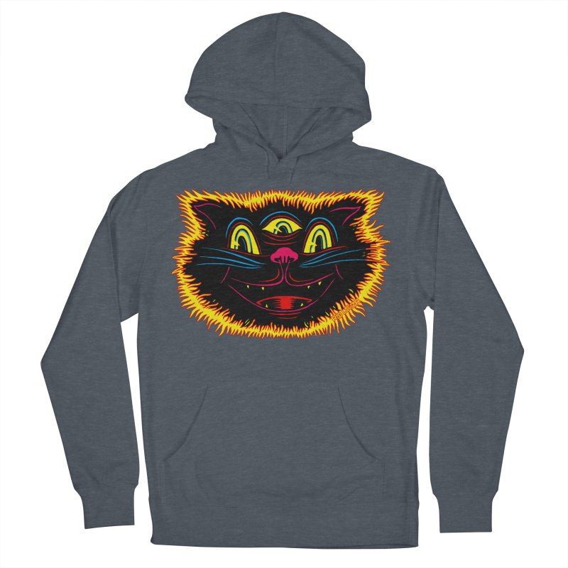 Black Cat Women's French Terry Pullover Hoody by redleggerstudio's Shop