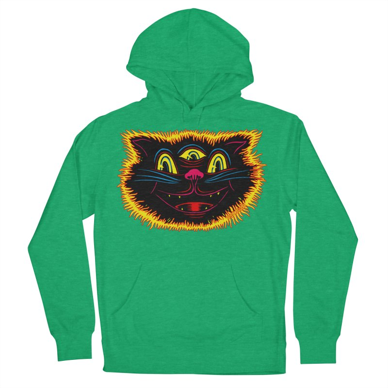 Black Cat Men's French Terry Pullover Hoody by redleggerstudio's Shop