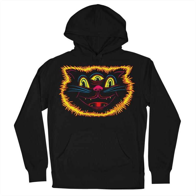 Black Cat Men's Pullover Hoody by redleggerstudio's Shop