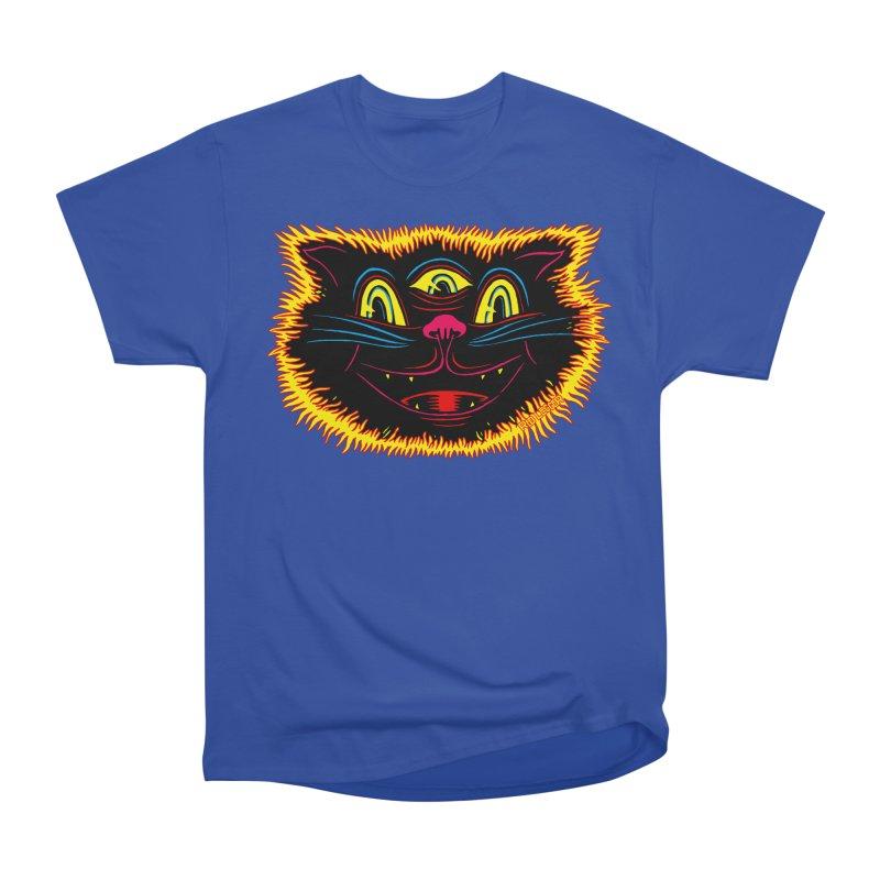 Black Cat Men's Heavyweight T-Shirt by redleggerstudio's Shop