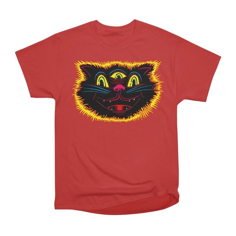 Black Cat Women's Heavyweight Unisex T-Shirt by redleggerstudio's Shop
