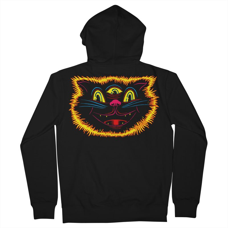 Black Cat Women's French Terry Zip-Up Hoody by redleggerstudio's Shop