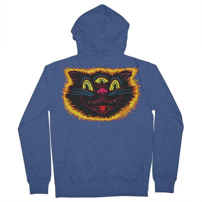 Black Cat Men's Zip-Up Hoody by redleggerstudio's Shop