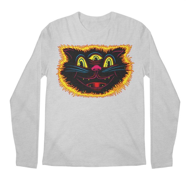 Black Cat Men's Regular Longsleeve T-Shirt by redleggerstudio's Shop