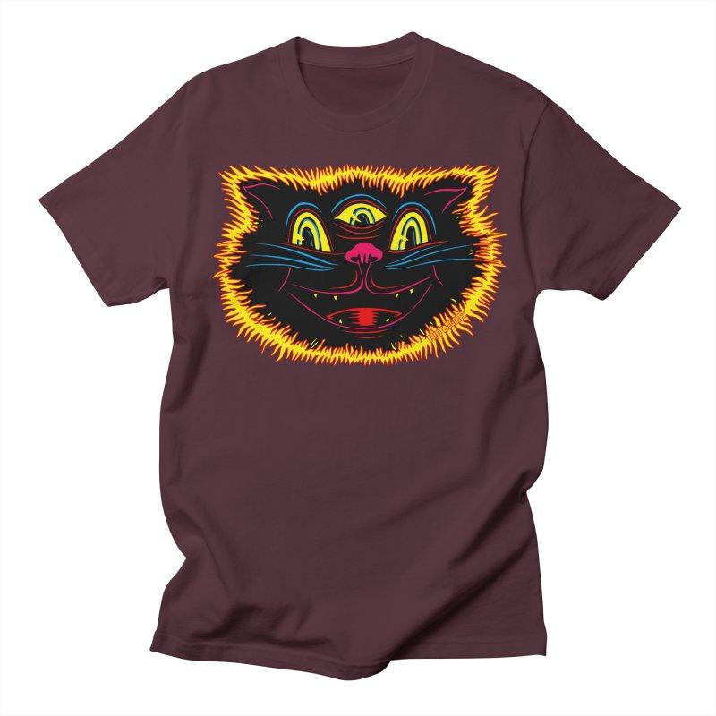 Black Cat Women's Regular Unisex T-Shirt by redleggerstudio's Shop