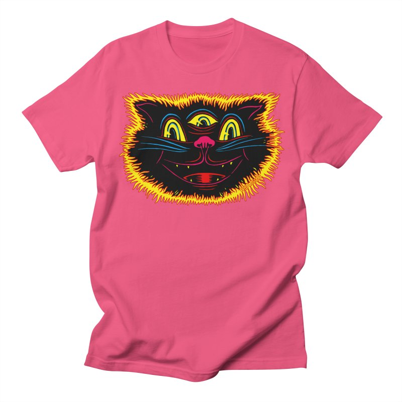 Black Cat Men's T-Shirt by redleggerstudio's Shop