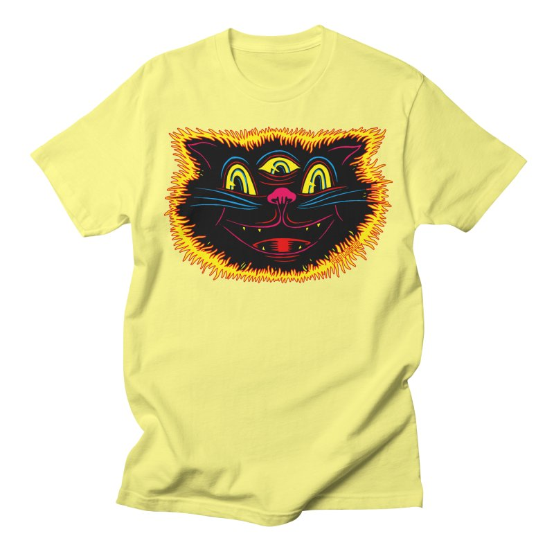 Black Cat Women's Regular Unisex T-Shirt by redleggerstudio's Shop