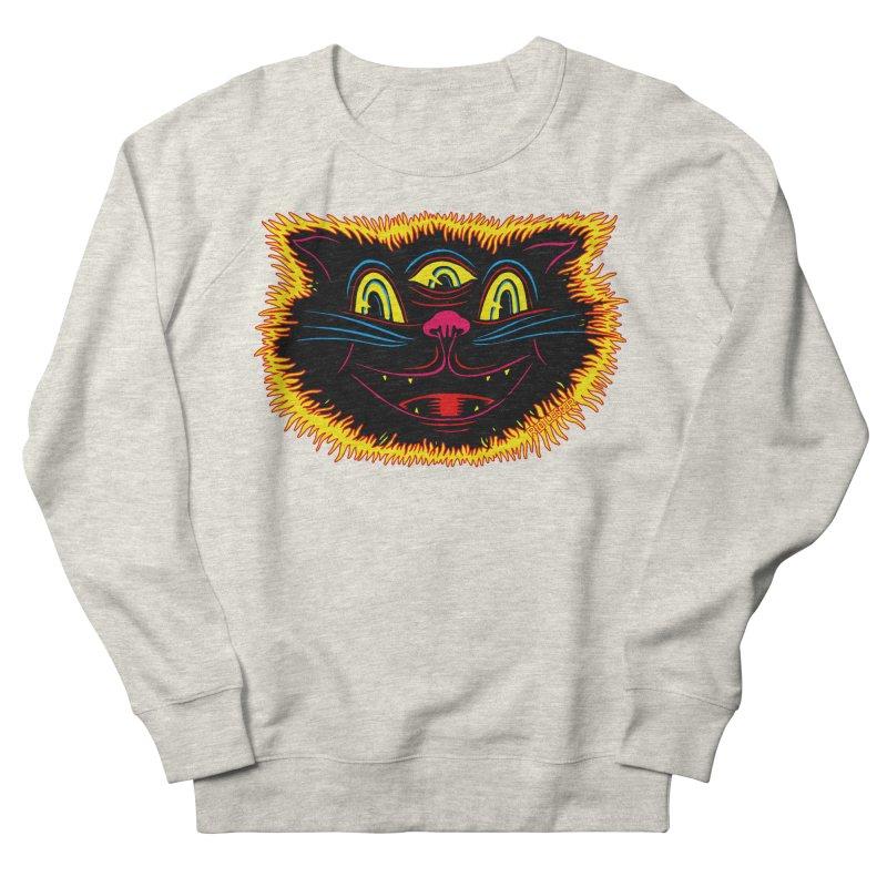 Black Cat Women's French Terry Sweatshirt by redleggerstudio's Shop