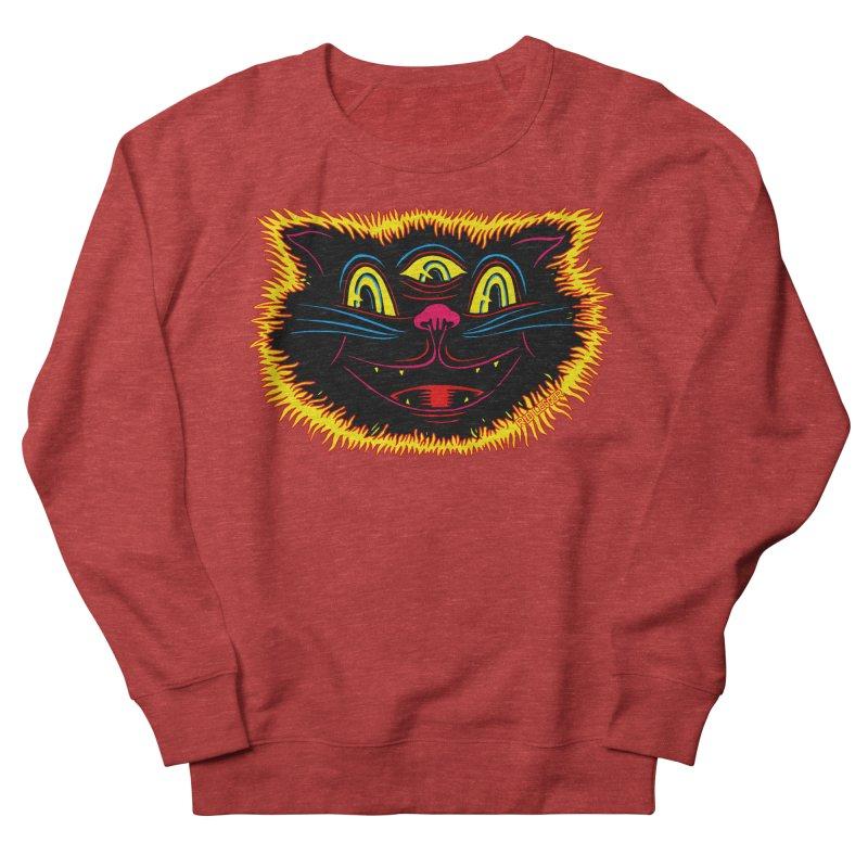 Black Cat Men's French Terry Sweatshirt by redleggerstudio's Shop