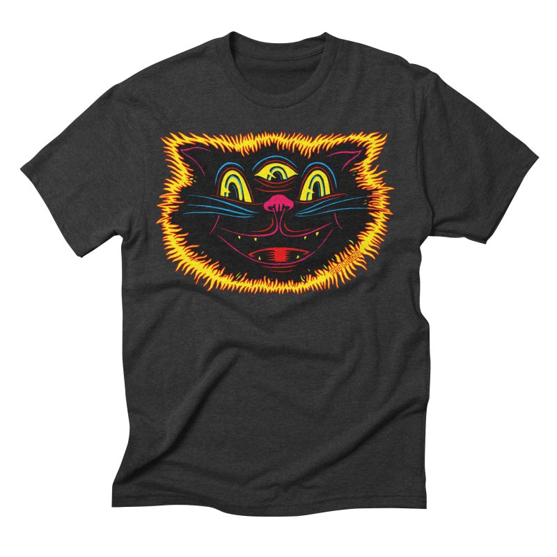 Black Cat Men's Triblend T-Shirt by redleggerstudio's Shop