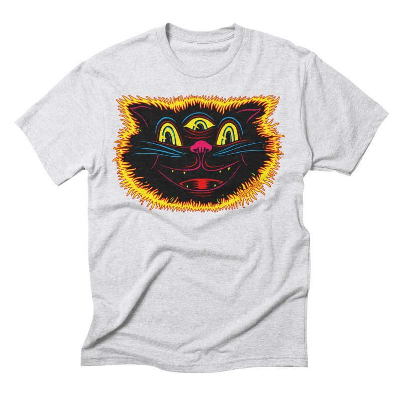 Black Cat Men's Triblend T-Shirt by redleggerstudio's Shop