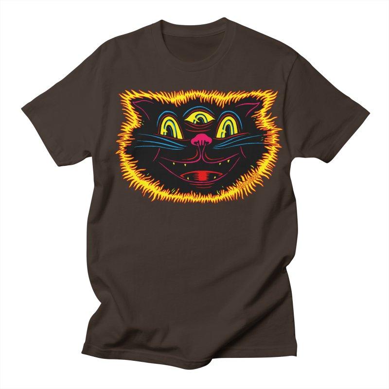 Black Cat Men's Regular T-Shirt by redleggerstudio's Shop