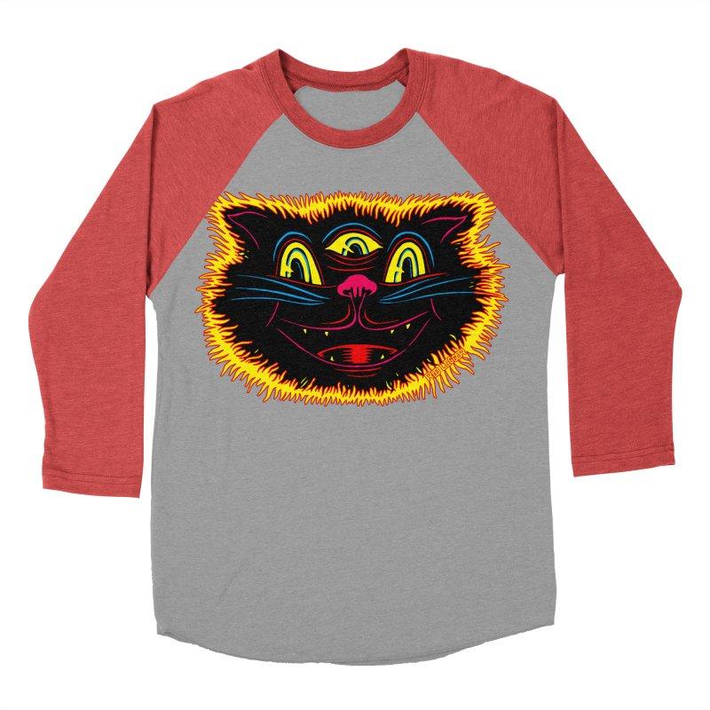Black Cat Women's Baseball Triblend T-Shirt by redleggerstudio's Shop