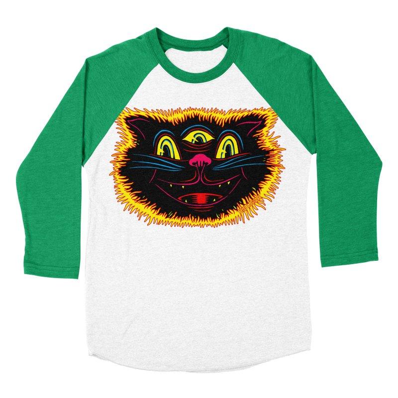 Black Cat Men's Baseball Triblend T-Shirt by redleggerstudio's Shop