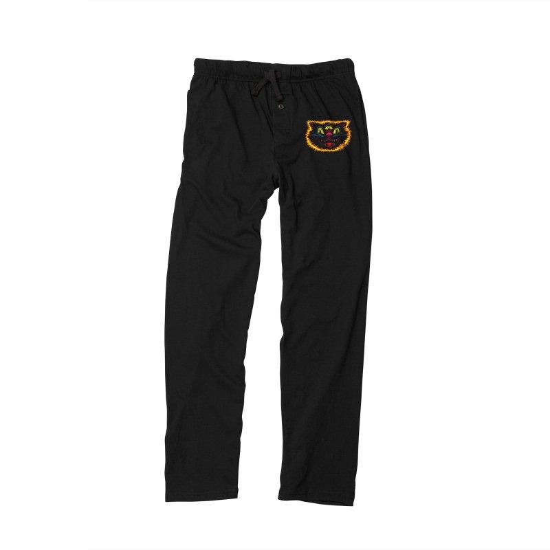 Black Cat Men's Lounge Pants by redleggerstudio's Shop