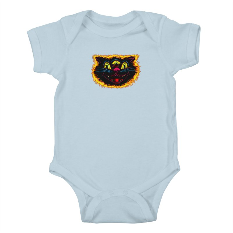 Black Cat Kids Baby Bodysuit by redleggerstudio's Shop