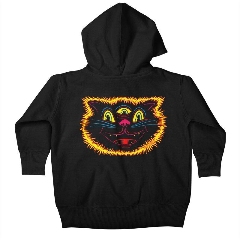 Black Cat Kids Baby Zip-Up Hoody by redleggerstudio's Shop