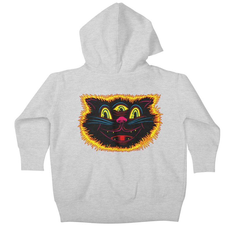 Black Cat Kids Baby Zip-Up Hoody by redleggerstudio's Shop