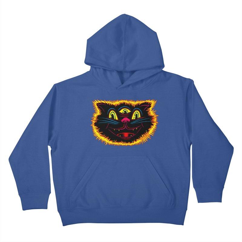 Black Cat Kids Pullover Hoody by redleggerstudio's Shop