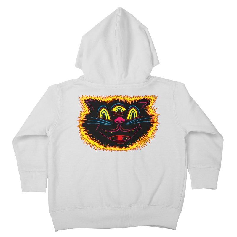 Black Cat Kids Toddler Zip-Up Hoody by redleggerstudio's Shop