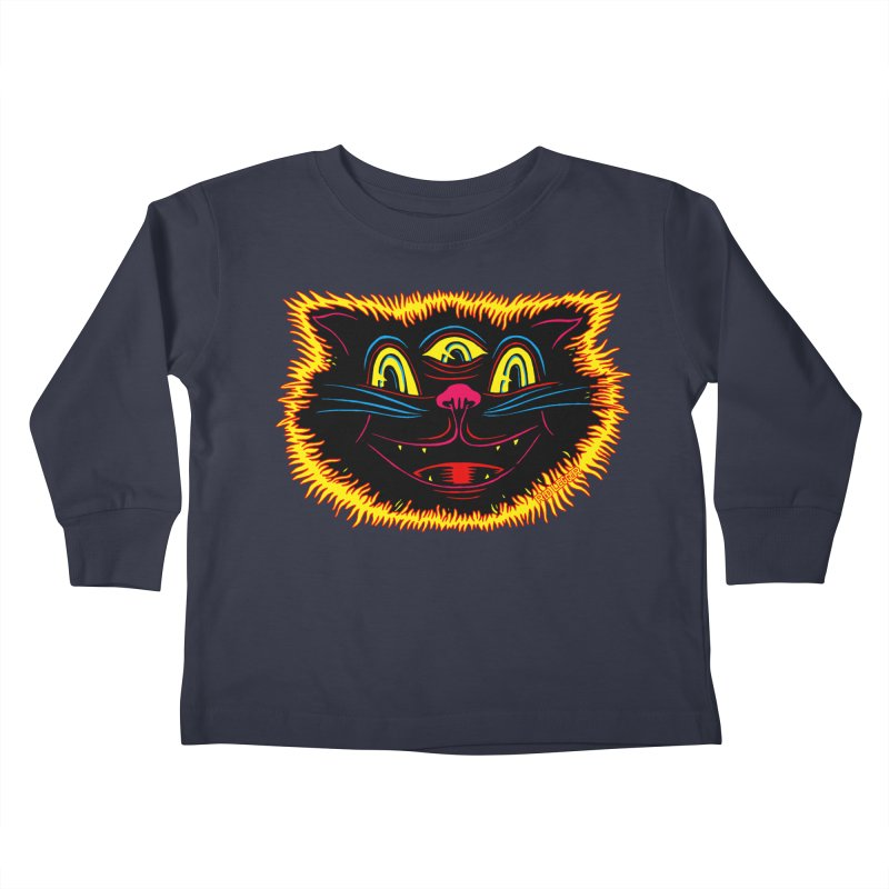 Black Cat Kids Toddler Longsleeve T-Shirt by redleggerstudio's Shop