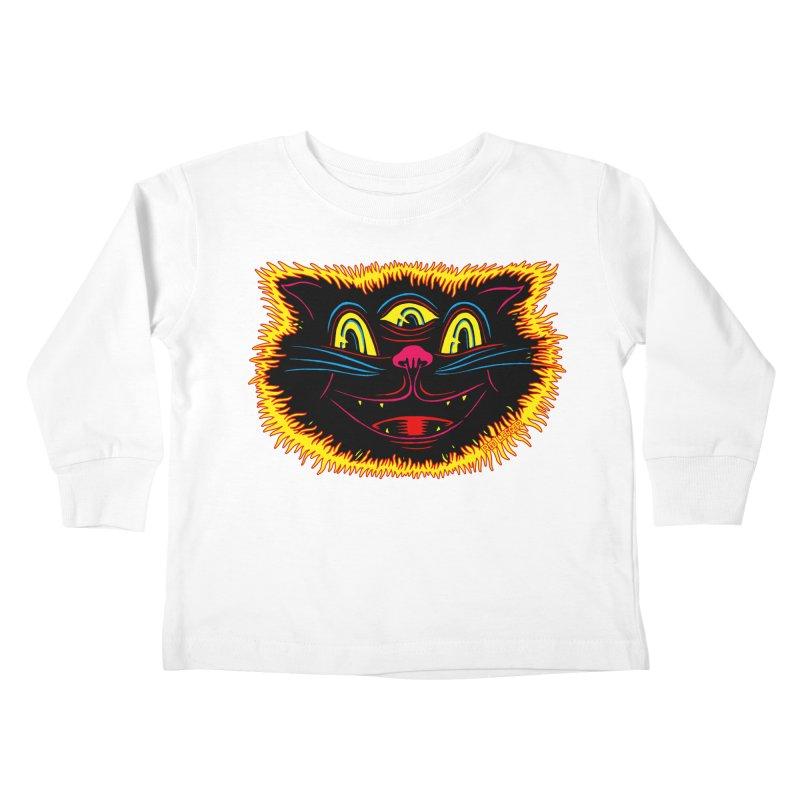Black Cat Kids Toddler Longsleeve T-Shirt by redleggerstudio's Shop