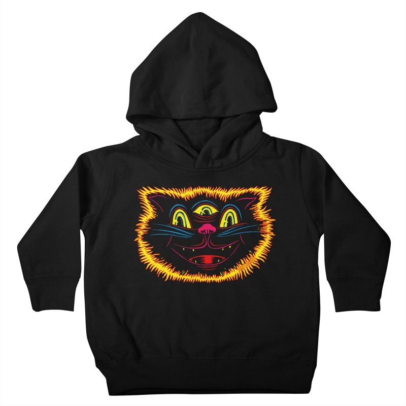 Black Cat Kids Toddler Pullover Hoody by redleggerstudio's Shop