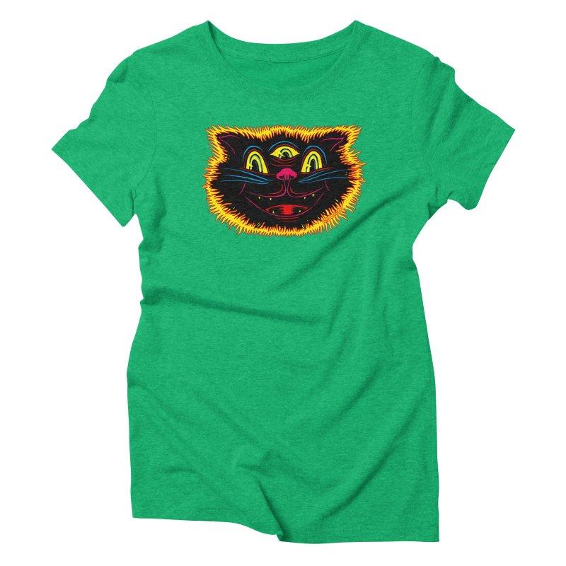 Black Cat Women's Triblend T-Shirt by redleggerstudio's Shop