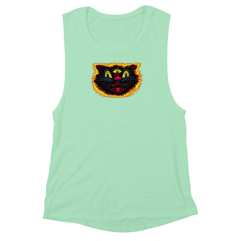 Black Cat Women's Muscle Tank by redleggerstudio's Shop
